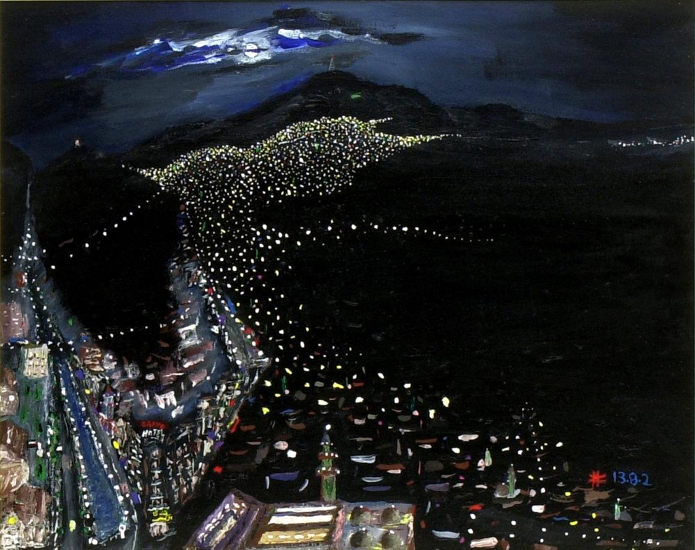 Di notte a Damasco acrilico su tela cm 40 x 50