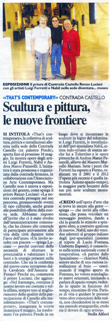 """""""Il Resto del Carlino"""" 13.05.2012"""