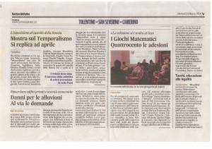 Corriere Adriatico 25 marzo 2014