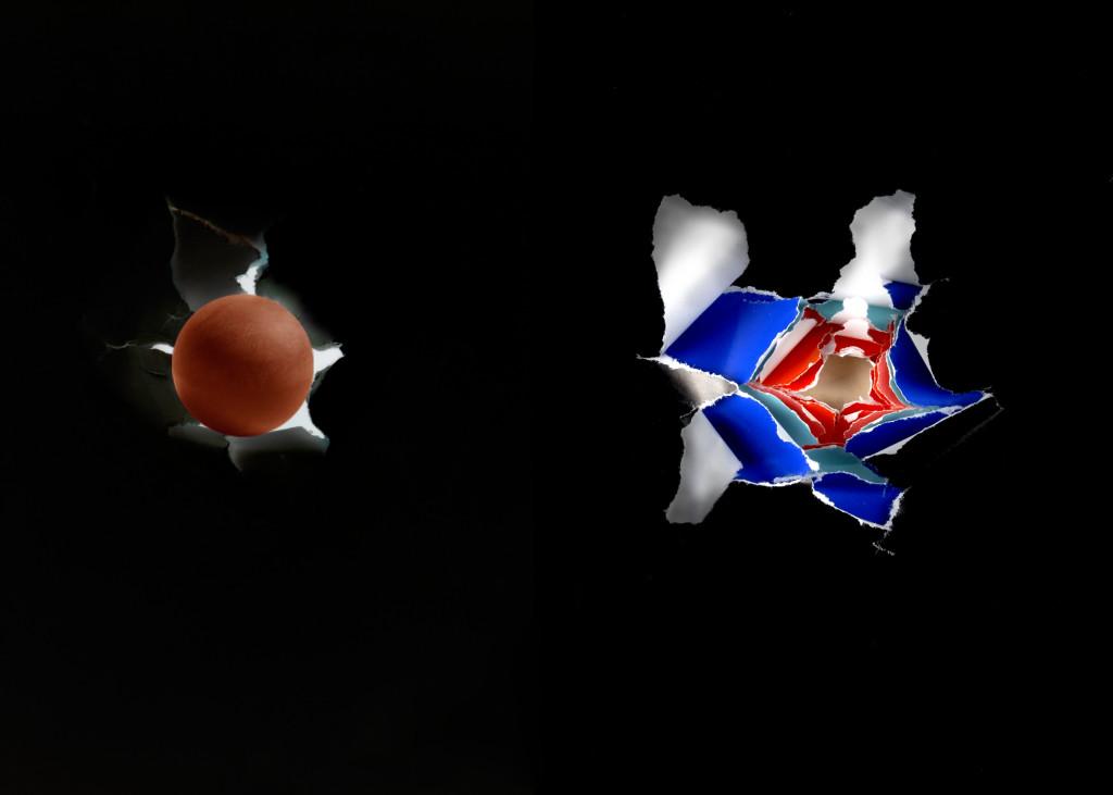 P. P. 8 collage su mediodensit - box in plexiglas cm 65 x 93