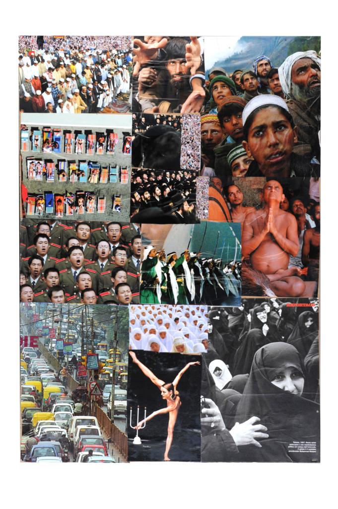 Folla collage su cartoncino cm 70 x 50